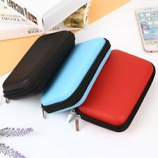Storage Carrying Zipper Bag Pouch Protector For USB Data Cable Headset