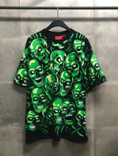 Oversize Mens Overall Skull Feel Graphic Printed Short Sleeve T-Shirts
