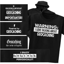 GEOCACHING T-shirt or Hoodie - Warning Powered New Religion Chemistry