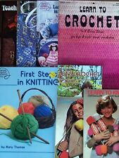 LEARN to KNIT or CROCHET Some w/PATTERNS *You Choose