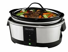 Crock-Pot Pressure Slow Cooker 6-Quart Wifi Controlled WeMo App Stainless Steel