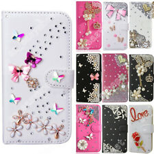 PU Leather Case Wallet Cards Stand Holder Bling Purse Flip Cover For Sony