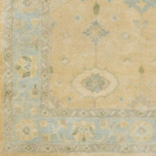 Alcott Hill Casares Hand-Tufted Wool Sky Blue/Khaki Area Rug