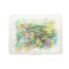 100Pcs Heads Pins Straight Pins Sewing Pins for Dressmaking Patchwork Craft