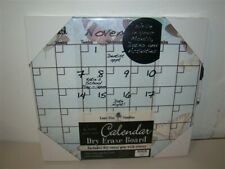 Lone Elm Create Your Own Calendar Dry Erase Board Blue Pink Butterfly