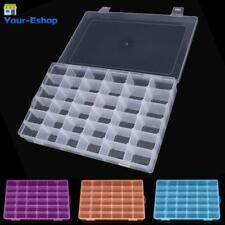 Plastic Storage Box With Lid Dividers Beads Jewelry Case Clear Boxes For Crafts