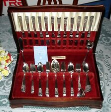 Oneida Community 1936 CORONATION Flatware for 12  w/ Chest 82 pieces Very Nice!