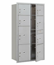 Salsbury Industries Recessed Private Aluminum 9 Unit 4C Horizontal Parcel Locker
