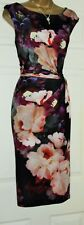 PHASE EIGHT Floral knot twist Wedding Summer All Occasion Pencil Dress size 16