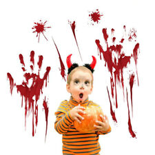 Halloween Window Stickers Decoration Scary Blood Horror Handprints Party Decals