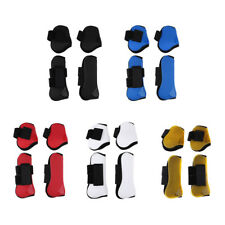 2 Pairs Horse Leg Boots Supportive Boots Front Hind Legs Protection PU
