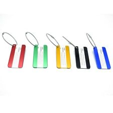 2pcs Aluminum Travel Luggage Labels Suitcase Name Address Tags Baggage Tags