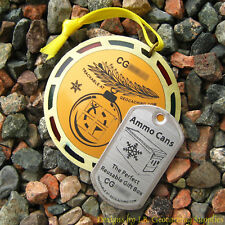 """""""Cache"""" for Christmas Geomedal Geocoin (2.5"""" + Translucent Colours)"""