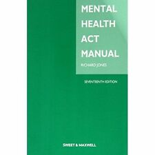 Mental Health Act Manual by Jones, Richard M. Book The Cheap Fast Free Post