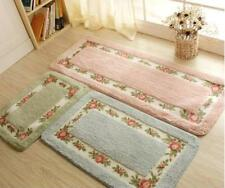 Homeroom Carpet Rug Classical Vintage Rectangular Shaped Anti Slip Floral Prints