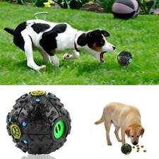 Ball Toys For Dog Pet Food Dispenser Squeaky Giggle Sound Chew Training Toy New