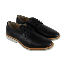 Kenneth Cole Unlisted Jupiter Oxford Mens Black Leather Lace Up Oxfords Shoes