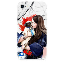 Dog Girl Love Marble Phone Cases For iPhone 7 iPhone 8 & Samsung Galaxy S8