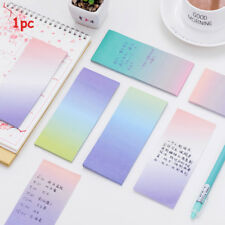 Stationery Note Bookmarks Sticky Notes N Times Rainbow Colorful Memo Pad