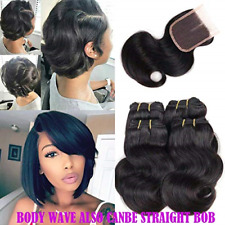 Brazilian Hair Body Wave 4 Bundle with Closure 100 Remy