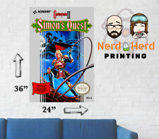 Castlevania 2 Simon's Quest NES Wall Poster Nintendo Multiple Sizes 11x17-24x36
