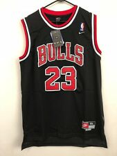 NEW Michael Jordan #23 Black Chicago Bulls Throwback Jersey Stitched Nike