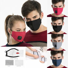 Adult PM2.5 Anti Dust Air Pollution Haze Filter Respirator  Washable Mouth Masks