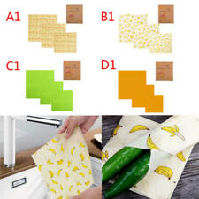 3x Beeswax Food Wraps Food Covers Reusable Eco-Friendly Wash Wrap Stretch zc