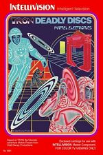 Tron: Deadly Discs Intellivision Box Art Poster Multiple Sizes 11x17-24x36