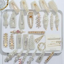 2/4/3/5Pc Hairpins With Pearl Hair Clip Hairband Comb Bobby Pin Barrette