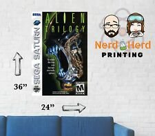 Alien Trilogy Sega Saturn Box Art Poster Multiple Sizes 11x17-24x36