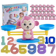 Pig Dog Monkey Frog Number Balance Game Scale Toy Child Early Math Learning Toy