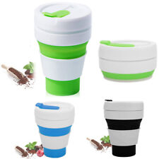Folding Portable Silicone Travel Cup/Coffee/Drinking Mug with Lid Collapsible