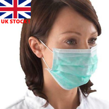 Disposable Face Masks Surgical 3 Ply Flu Virus Smog Dust Medical Earloop Dental