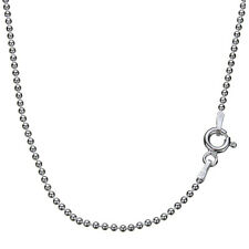 925 Sterling Silver 1.5mm Bead Ball Chain Necklace