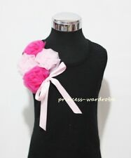 Black Pettitop Top Pink Chiffon Rose with Pink Bow 1-8Y