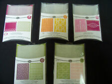 SIZZIX Textured Impressions Embossing Folders U Pick