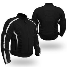 NEW ADVENTURER HI TECH MESH MOTORCYCLE WATERPROOF JACKET WITH REMOVABLE ARMOUR