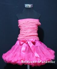 Baby Hot Pink Pettiskirt Hot Pink Lace Tube Top 1-8Year