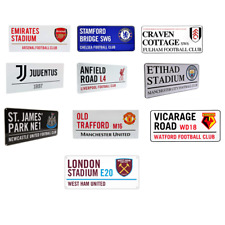 FOOTBALL - STREET SIGN (Metal Door Sign){14 Clubs} Official Club Merchandise