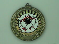 """2-3/4"""" SUN Bowling Medal w/Ribbon Any Qty Ships Flat Rate $5.49 in USA"""