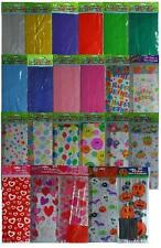 CELLOPHANE PARTY (Loot) BAGS - Solid Colours & Patterns/Themes {fixed £1 UK p&p}