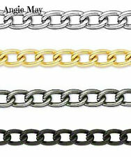 25 FEET! Non-Tarnish Aluminum 8x5mm Jewelry Twisted Cable Chain