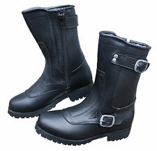 NEW LADYS ENGINEER ALL GENUINE LEATHER MOTORCYCLE BOOTS AU 5 - 10