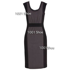 NEW RRP $130  JACQUI E TWO TONE GREY BLACK STRETCH BUSINESS DRESS