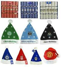 Official Football Club - CHRISTMAS (Xmas) HATS & CRACKERS (Decorations)