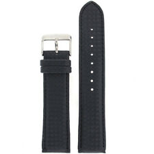 Watch Band Carbon Fiber Black Water Resistant Padded LEA460