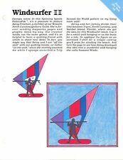 Windsurfer ~ Quilt & Block, Spinning Spools quilt sewing pattern & templates