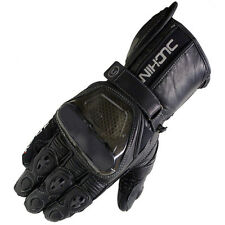 Duchinni Stig Leather Summer Motorbike Motorcycle Armoured Racing Sports Gloves