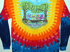 "GRATEFUL DEAD ""WOOD BEARS"" 2-SIDED LONG SLEEVE TIE DYE T-SHIRT NEW"